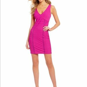 Guess Sleeveless V Neckline Dress